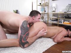 big ass, big tits, cum, latina, pussy, shaved
