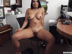 casting, dark-haired, latina, milf, mom, tattoo