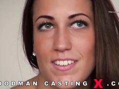adorable, amateur, brunette, casting, rough sex
