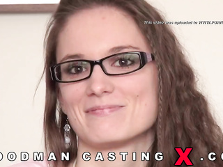 hungarian amateur brunette glasses