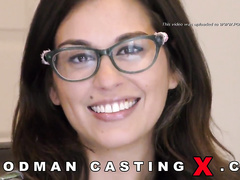 adorable, amateur, casting, glasses, rough sex