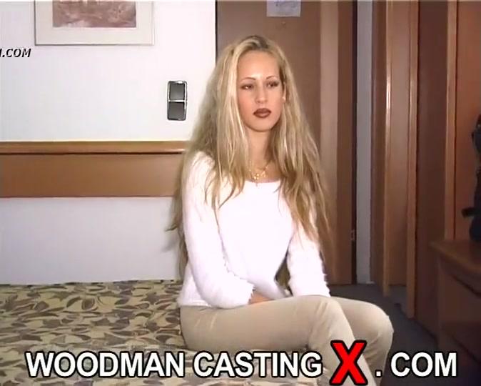 Woodman casting blonde anal