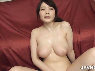 big tits asian blowjob