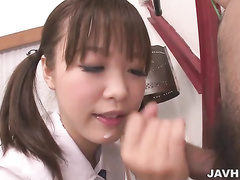 asian, blowjob, cock sucking, japanese, school, school girl