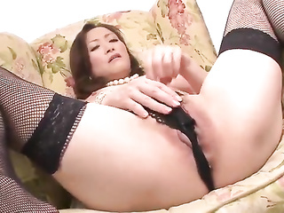 japanese mature stockings masturbation