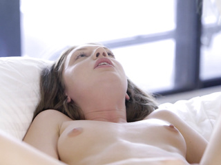 lesbian gorgeous young brunette