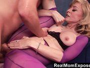 ready amateur blonde mom