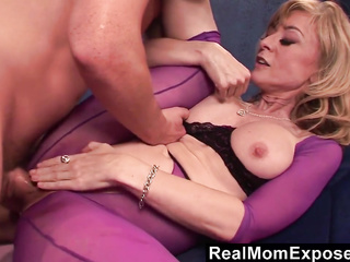 ready amateur blonde mom