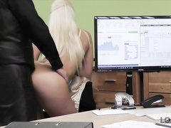 attractive, lingerie, office sex, reality