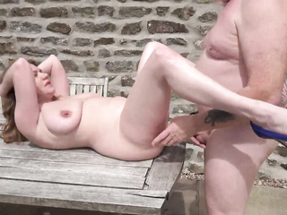 big tits amateur table