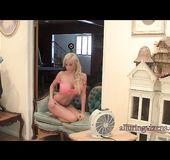 Sexy alluring tit blonde teen