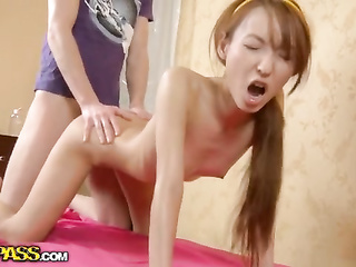 skinny asian massage fuck