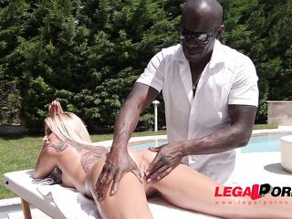 intense poolside massage sex