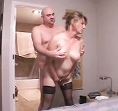 Mature hornball fucked in the ass