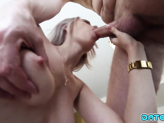 busty girlfriend blowjob