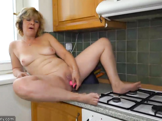 granny, individual model, masturbation, pussy, shaved, toys