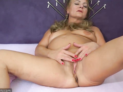 blonde, granny, individual model, mom, pussy, striptease