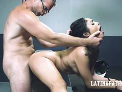 cum, cumshot, flashing, french, office sex, rough sex