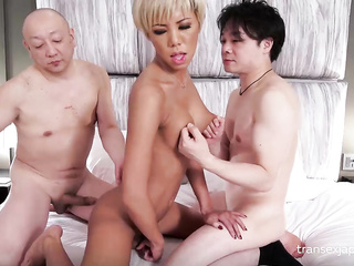 transsexual hard fuck threesome