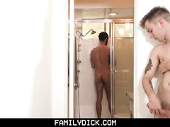 cock, cum, gay, step family