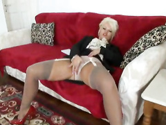 belt, hardcore, mature, mom, pantyhose, vintage