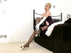 blonde, movies, pantyhose, satin, vintage