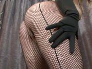 fishnet seductive ass
