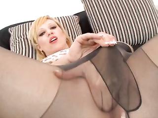 slutty blonde masturbation