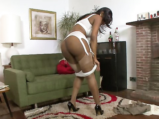 ebony stockings mature heels