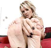 Blonde feet fetish