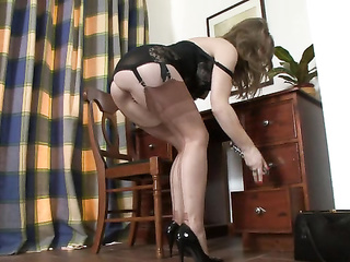 belt, mature, office sex, pantyhose, upskirt, vintage