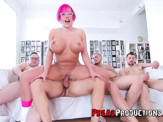 big tits group sex