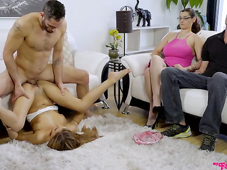 acrobatic, brunette, euro, handjob, masturbation, step family
